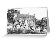 St Michael's Church, Duntisbourne Rouse, Gloucestershire Greeting Card