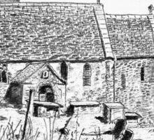 St Michael's Church, Duntisbourne Rouse, Gloucestershire Sticker