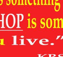 RAP vs. HIP-HOP Sticker