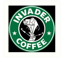 Invader Coffee Art Print