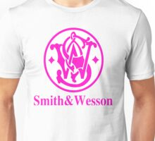 Smith and Wesson Firearms Pink Logo Unisex T-Shirt