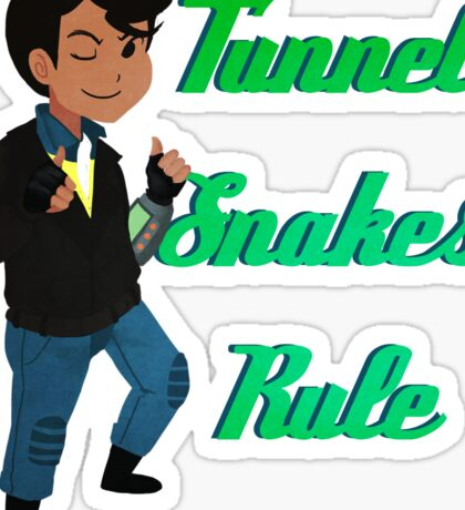 TUNNEL SNAKES RULE! Sticker