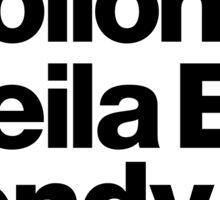 Prince Protégés Apollonia & Carmen Electra Helvetica Threads Sticker