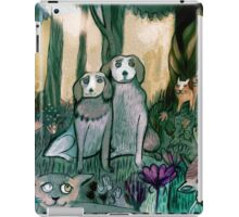 Dogs in garden iPad Case/Skin