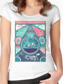 Animal Collective Circus Style Women's Fitted Scoop T-Shirt