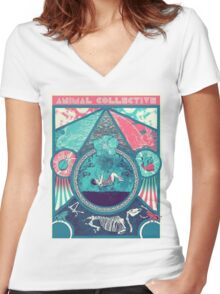Animal Collective Circus Style Women's Fitted V-Neck T-Shirt