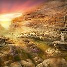 Bible - Psalm 23 - Yea, though I walk through the valley 1920 by Mike  Savad