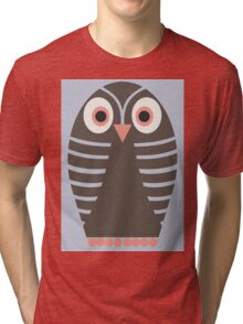 STRIPED OWL Tri-blend T-Shirt