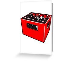 Beer drinking booze box Greeting Card