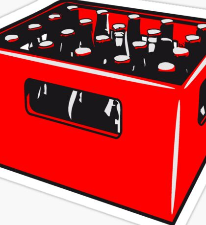 Beer drinking booze box Sticker