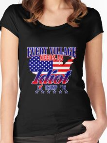 Trump Village Idiot Women's Fitted Scoop T-Shirt