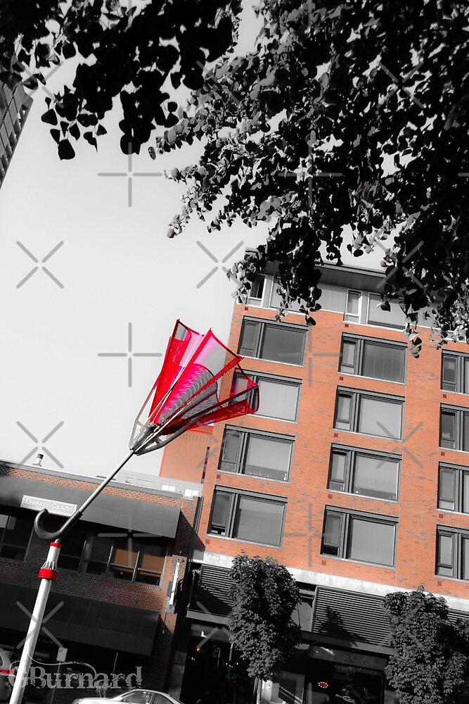 Seattle Red Umbrella by guinapora