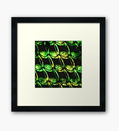 army of misfits in green Framed Print