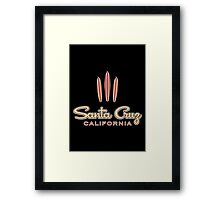 Santa Cruz California 3 Surfboards Framed Print