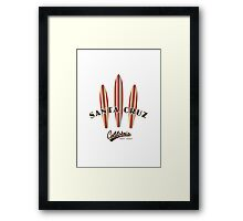 Santa Cruz California with three Surfboards Framed Print