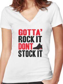 Gotta Rock It - Black Infrared 6 Women's Fitted V-Neck T-Shirt