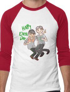 The 100 Jasper Monty 'Happy Earth Day' Men's Baseball ¾ T-Shirt