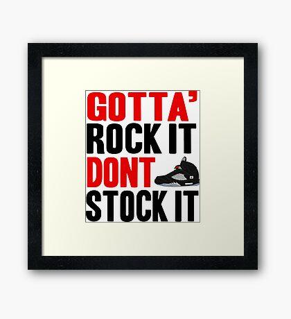 Gotta Rock It - Black Metallica 5 Framed Print