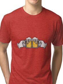 drinking beer booze handle hand abut Tri-blend T-Shirt