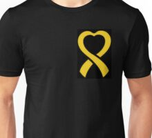 Cancer Ribbon Heart  Unisex T-Shirt