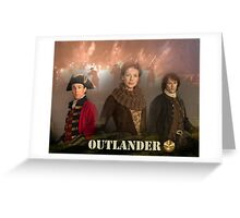 Outlander Poster/Jamie, Caire & Jack Randall Greeting Card