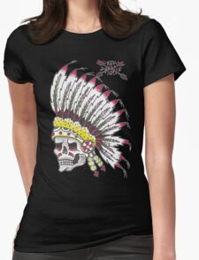 Indian Chief Skull Womens Fitted T-Shirt