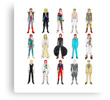 Outfits of Bowie Fashion Canvas Print