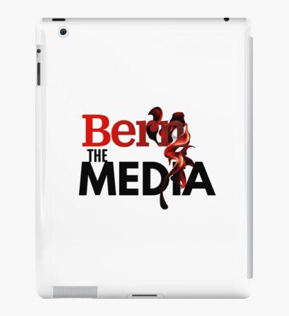 Bern The Media - Bernie Sanders (Black) iPad Case/Skin