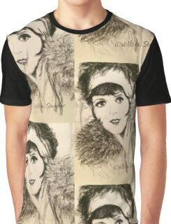 Clara, Scarf and Fur Graphic T-Shirt