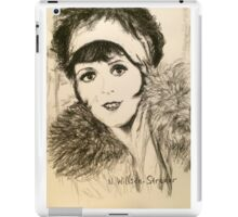 Clara, Scarf and Fur iPad Case/Skin
