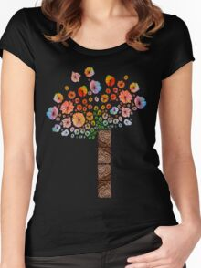 Flower Tree Women's Fitted Scoop T-Shirt