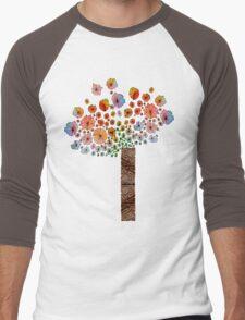 Flower Tree Men's Baseball ¾ T-Shirt