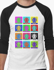 Doctor Who - Andy Warhol (Cybermen) Men's Baseball ¾ T-Shirt
