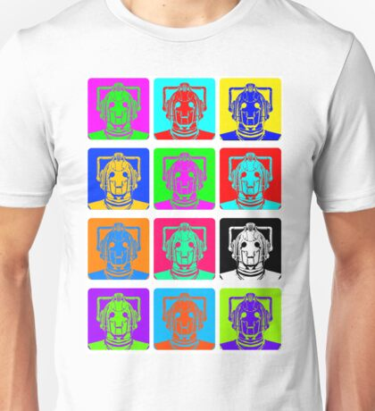 Doctor Who - Andy Warhol (Cybermen) Unisex T-Shirt