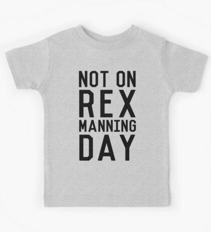 Rex Manning Day_Black Kids Tee