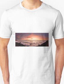 Half moon bay sunset panorama Unisex T-Shirt