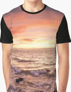 Half moon bay sunset panorama Graphic T-Shirt