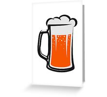 drinking beer booze handle Greeting Card