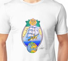 Traditional Ship Tattoo Unisex T-Shirt
