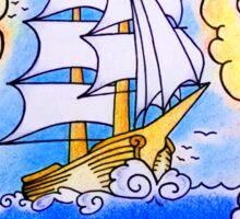 Traditional Ship Tattoo Sticker