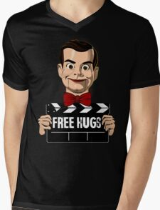 slappy free hugs Mens V-Neck T-Shirt