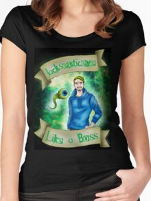 Jacksepticeye - Like a BOSS! Women's Fitted Scoop T-Shirt