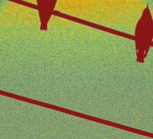Red Birds on a Red Wire Sticker