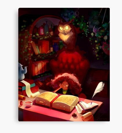 Book of Spells Canvas Print