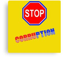 stop corruption in USA Canvas Print