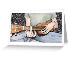 Ukulelist with a Vengeance Greeting Card