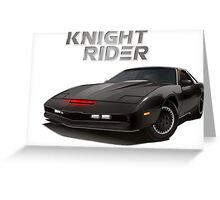 knight rider black car Greeting Card
