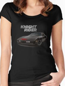 knight rider black car Women's Fitted Scoop T-Shirt