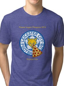 Leicester Champions Pizza Tri-blend T-Shirt