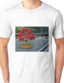 PixelSquid Red Bonsai Tree in the Zen Garden Unisex T-Shirt